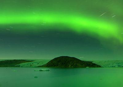 Groenlandia Auroras Boreales Tierras Polares
