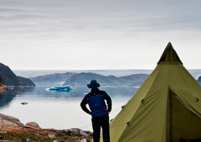 Groenlandia kayak y trekking fiordo