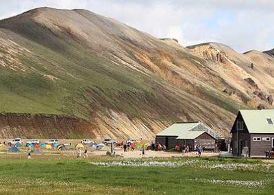 Islandia-landmanalaugar refugio cabañas