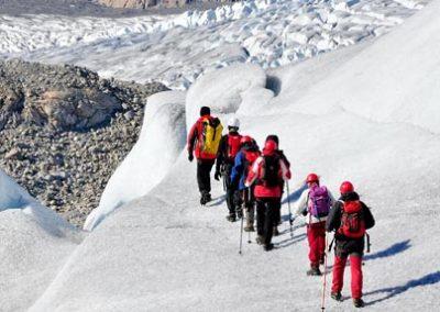 groenlandia glaciar trekking