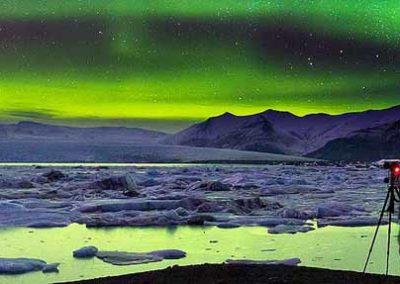 islandia-jokulsarlon aurora boreal