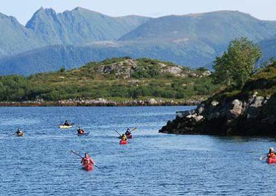 Lofoten Tromso y Ballenas noruega viaje tierras polares kayak