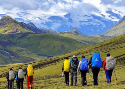 trekking Landmannalaugar islandia tierras polares