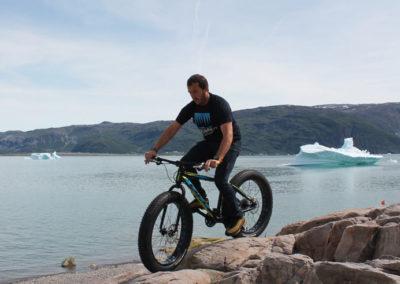 Ruta de mountain bike en Groenlandia