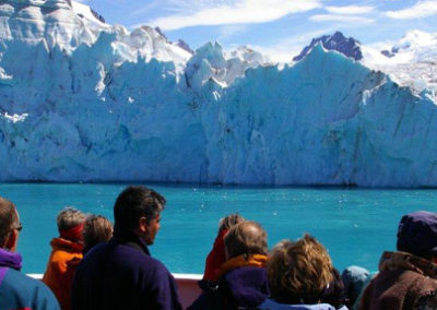 Frente glaciar en Antártida