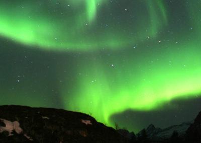 auroras boreales en septiembre en Noruega