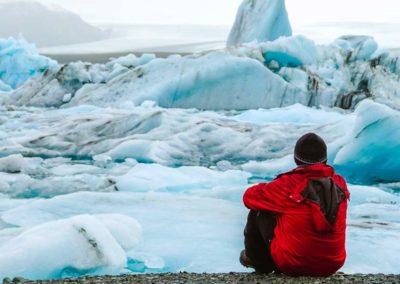 Icebergs del Lago Jokulsárlón en Islandia en Semana Santa